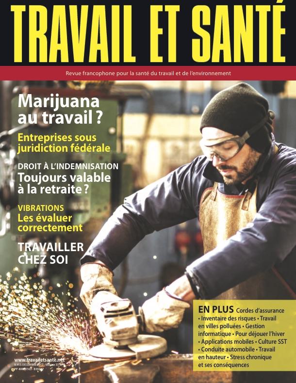 Revue Travail et santé : volume 33, numéro 4 - Décembre 2017 - Page couverture