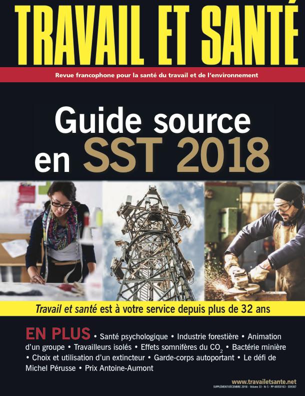 Couverture du Guide source en SST 2018
