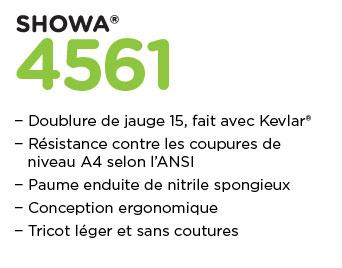 travail et santé promotion showa gloves gant 4561s