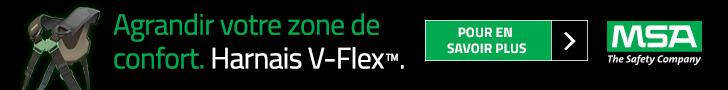 Harnais V-Flex, confort et sécurité MSA