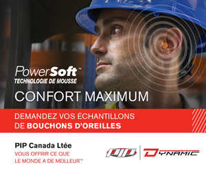 bouchons oreilles, protection auditive, EPI, PIP Canada Dynamic