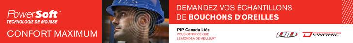 bouchons oreilles, protection auditive, EPI, PIP Dynamic Canada